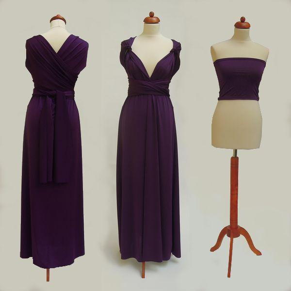 Dlouhé fialové Convertibles® šaty 💜 #fialovesatyconvertibles Každé #satyconvertibles mají k sobě bolerko/top ve stejné barvě, které si můžete vzít přímo na tělo nebo použít jako krycí díl vašeho vlastního spodního prádla. Šaty ale můžete nosit i bez něj a nechat tak vyniknout svá záda 👌