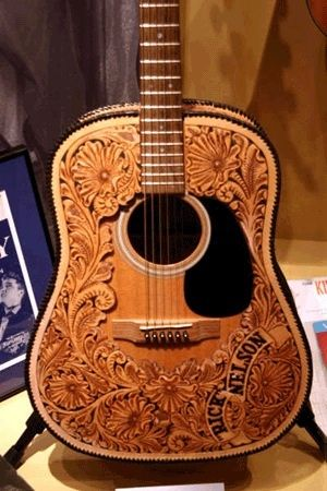 Rickey Nelsons leather wrapped Martin Guitar...