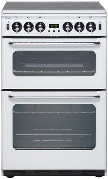 NEW WORLD 550TSIDOM-WH Cooker 55cm Gas Double Oven FSD 4 Burner White