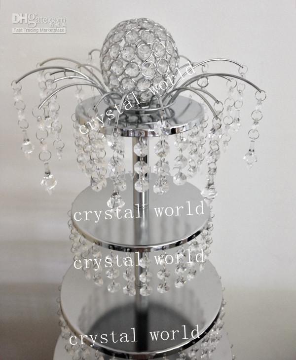 crystal cake wedding cake holder | Wholesale - crystal cake stand for wedding