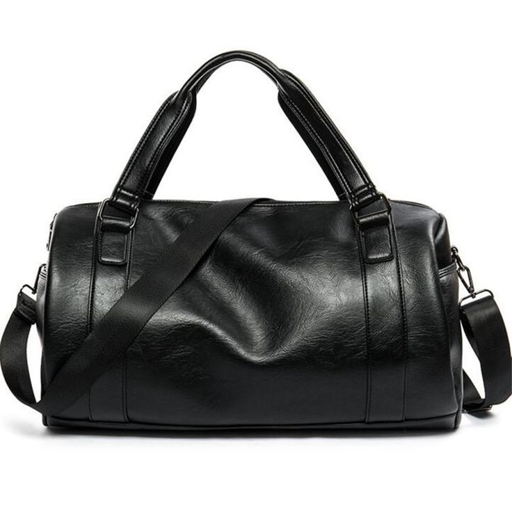 37.79$  Watch now - Men Travel Bag Large Capacity Business Bag Luggage High Quality Storage Bags Leisure Genuine Leather Tote Bag Black    #magazine