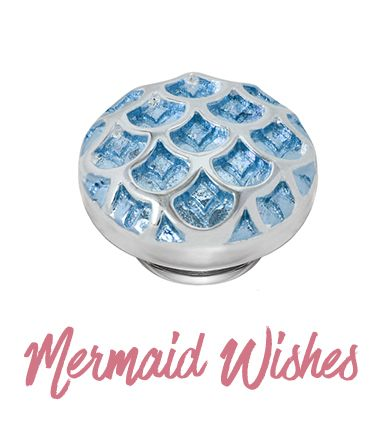 The chevron pattern underneath the blue enamel add dimension to the mermaid scales to give a fabulous underwater feel to your favorite Kameleon pieces!
