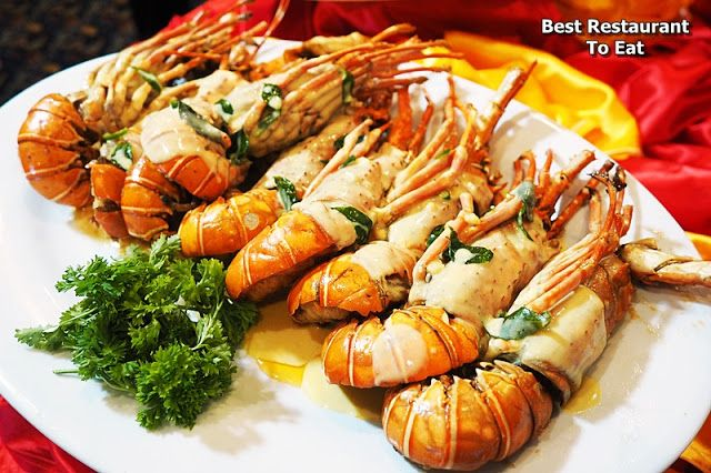 Baked Baby Lobster With Cheese at Best Restaurant To Eat - Malaysian Food Blog: Lobster Promotion at Tung Yuen Halal Chinese Restaurant Grand Blue Wave Hotel Shah Alam
