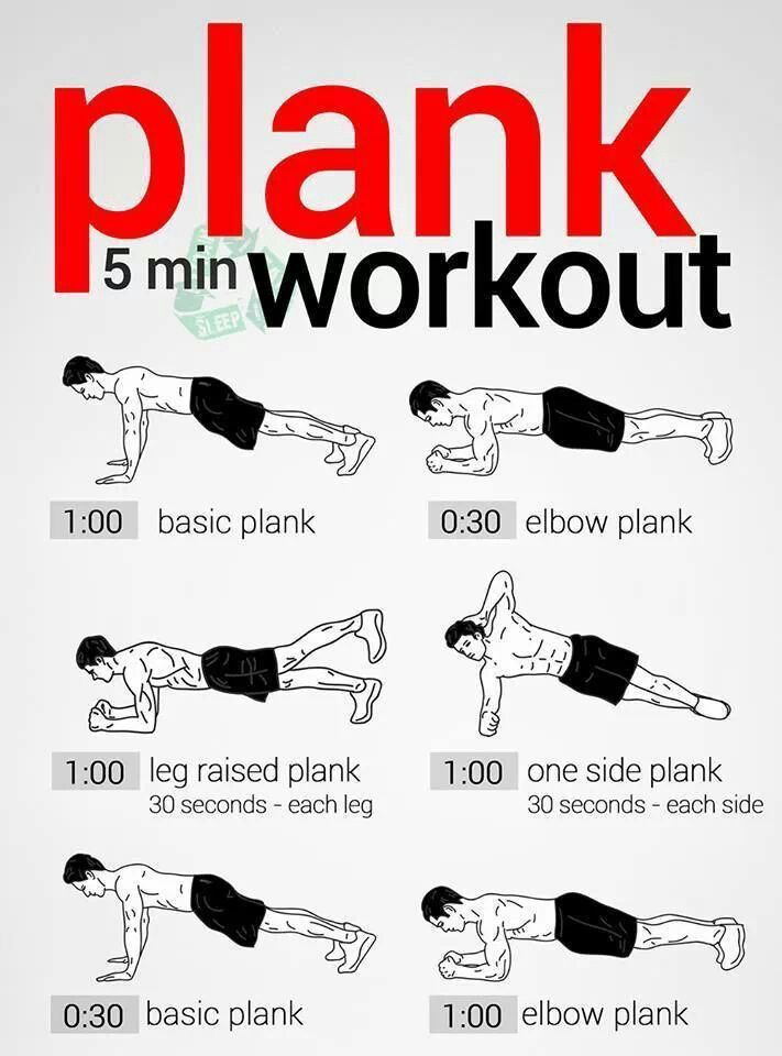 5 min plank / strength training workout... do each morning before work.