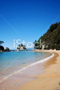 Outgoing Tide, Stephen's Bay, Kaiteriteri, NZ Royalty Free Stock Photo