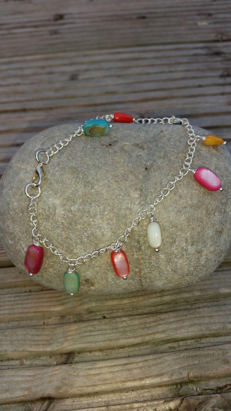 Boho Anklet. Jewellery. Anklets. Summer Jewellery. Gemstone Anklet. Ankle Bracelet. Multicoloured Anklet. Body Jewellery. Accessories. by Twinkletoesjewellery on Etsy