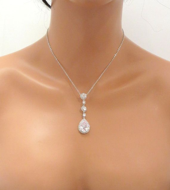 Hey, I found this really awesome Etsy listing at https://www.etsy.com/listing/168412406/teardrop-bridal-necklace-wedding