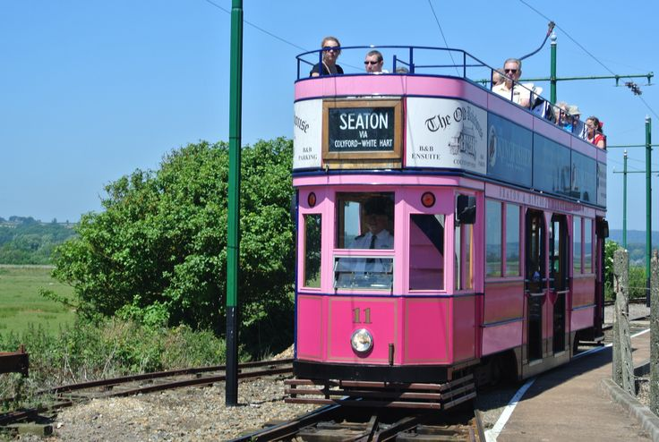 Seaton Tramway runs 3 miles inland from Seaton to Colyton.