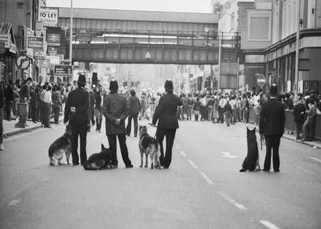 Brixton riots 2nd day 1985