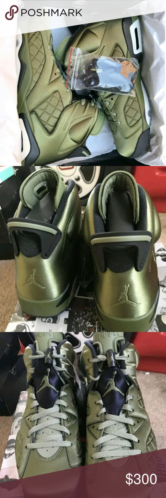 Air Jordan Retro 6 Pinnacle Promo Jacket Olive Pal Deadstock And Brand New w/ Box. Price is highly negotiable if you buy today and Payment is not done thru Po$hmark. Texxt me ONLY when your READY TO PURCHASE 7 7 0 5 8 0 4 8 7 8 Jordan Shoes Athletic Shoes