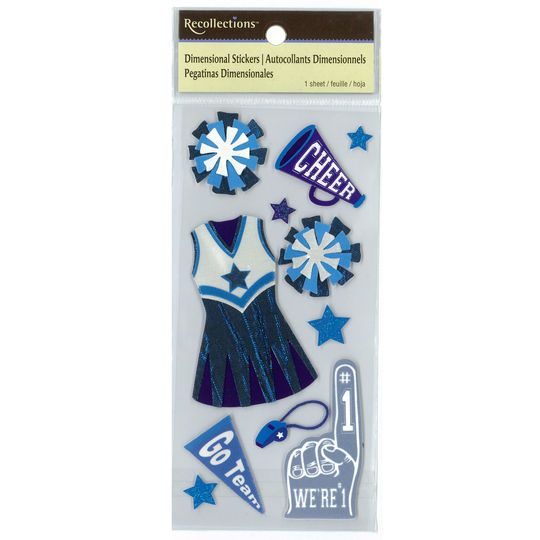 School Cheerleading Dimensional Stickers by Recollections™