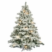 "Found it at Wayfair - Flocked Alaskan 78"" Artificial Christmas Tree with Clear G50 Lights"