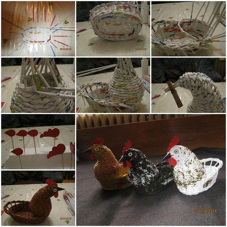 DIY Woven Paper Chicken Easter Basket  https://www.facebook.com/icreativeideas