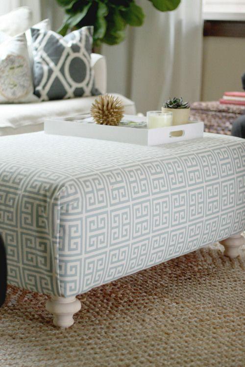 feeling lovesome: diy upholstered ottoman