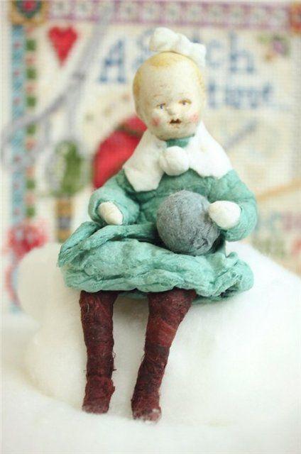 Моя первая ёлочная игрушка из ваты своими руками / Игрушки из ваты своими руками / Бэйбики. Куклы фото. Одежда для кукол