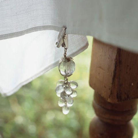 Outdoor tablecloth clips - might be great if we put a table on the deck, or just bring the cardtable outside with a tablecloth