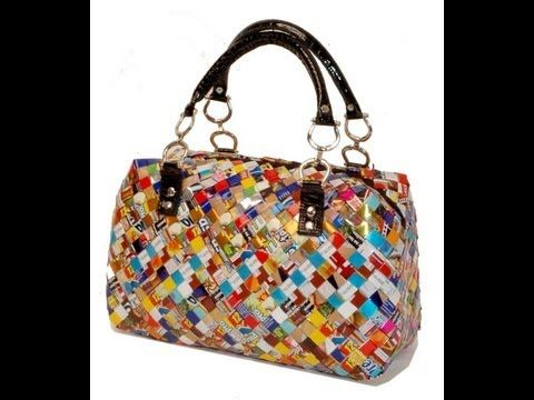 How To Make A Square Candy Wrapper Bag / Purse Part 2