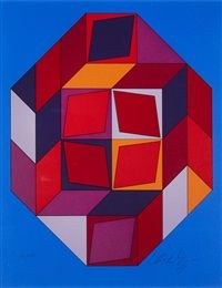 4 Plates 4 by Victor Vasarely