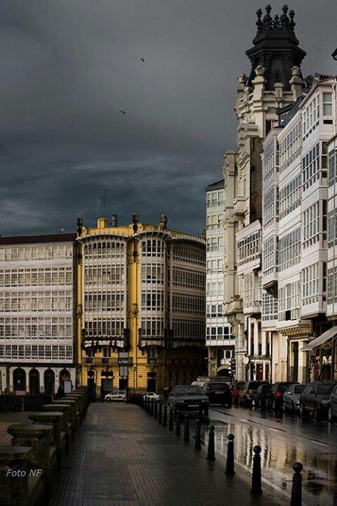 Calle de El Parrote en la ciudad de LA CORUÑA, Galicia, España. Spain.