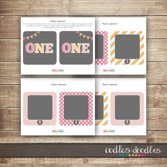 1st Birthday Photo Banner / First Year Photo Banner / by OandD, $10.00