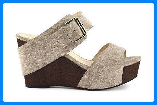 CAF NOIR HD624 Sand Clogs Pantoffeln Frau Lederschnalle Keil 36 - Clogs für frauen (*Partner-Link)