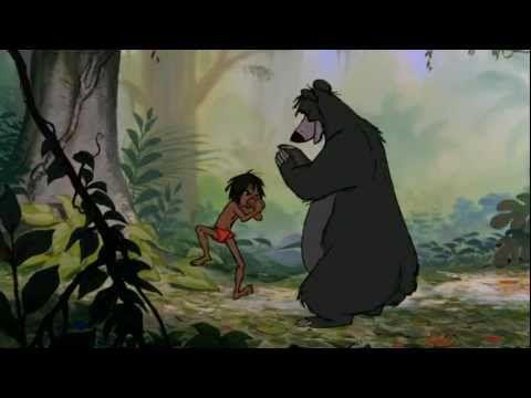"Best Film Clips: The Jungle Book (Disney 1967) Mowgli/Baloo scene ""The Bare Necessities""  • http://en.wikipedia.org/wiki/The_Jungle_Book_(1967_film) • http://www.imdb.com/title/tt0061852/?ref_=nv_sr_2"