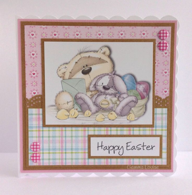 Fizzy moon Easter card I made my Daughter 2014