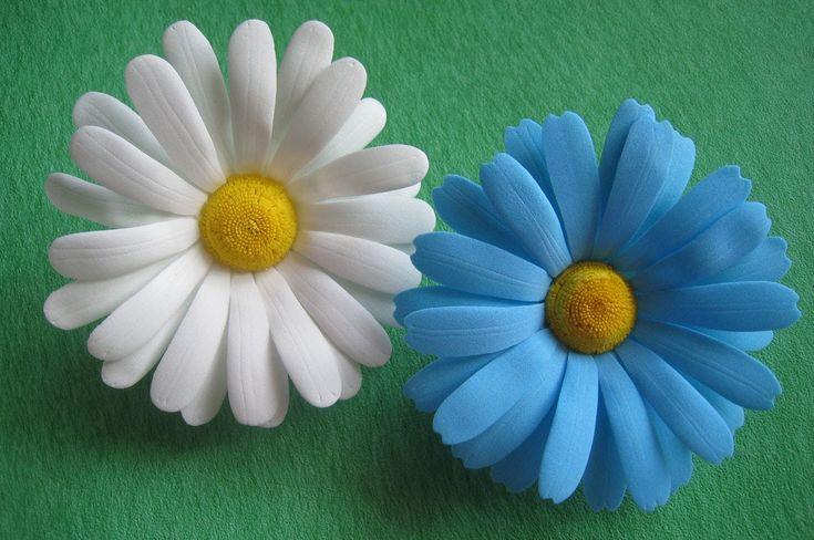 Цветы из фоамирана - ромашки МК./How to make Foam Flower camomile , DIY,...