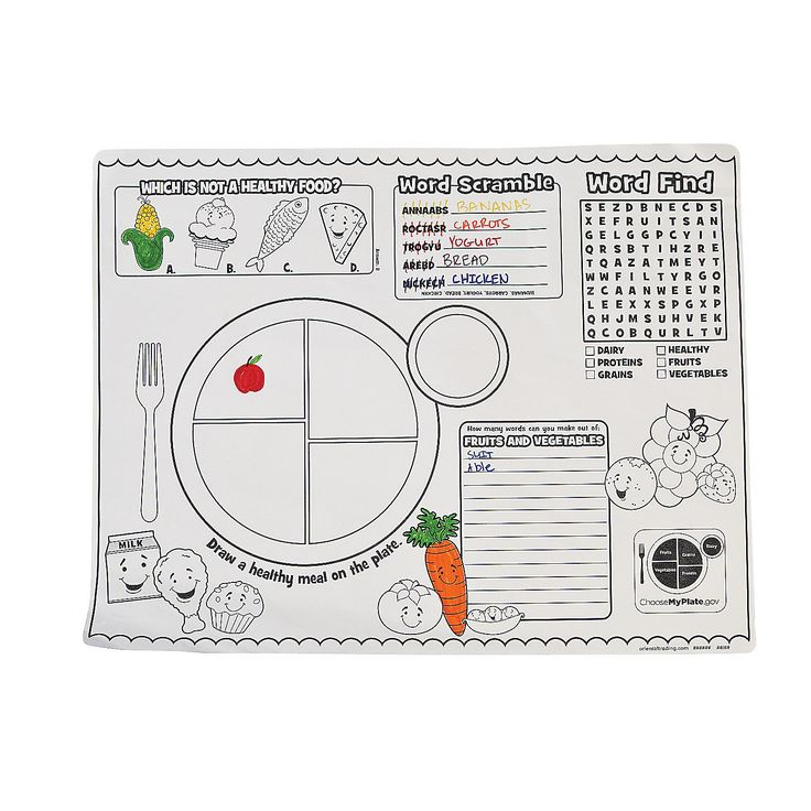 MyPlate Activity Placemats
