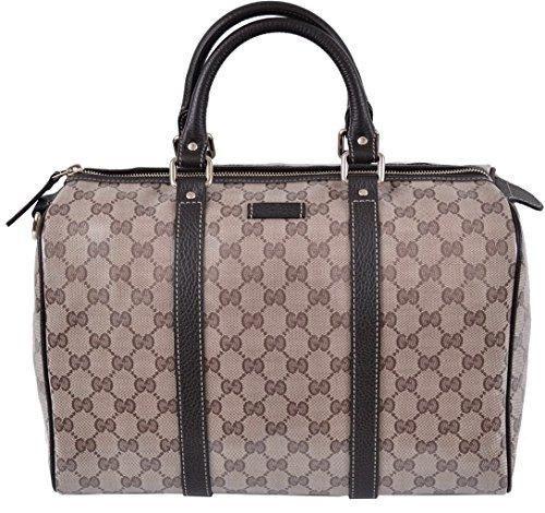 c0a75b75d36 Gucci 265697 Women s Crystal Canvas   Leather Guccissima GG Boston Purse