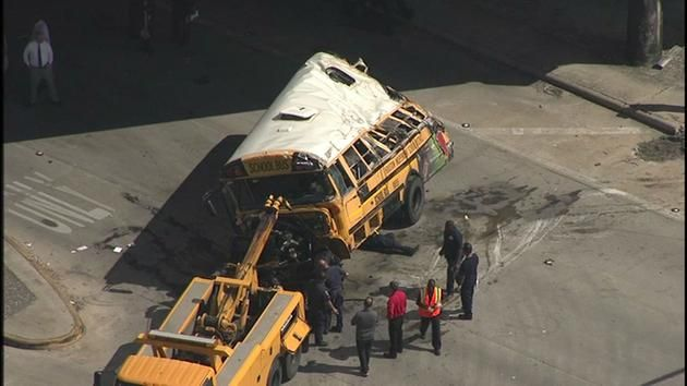 Two students were killed and two others seriously injured when a school bus careened off the 610 South Loop at Telephone Road.