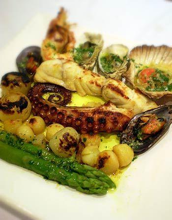 Frutos do mar grelhados