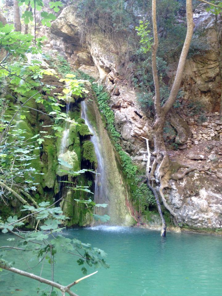 Waterfall in Kythera,Greece