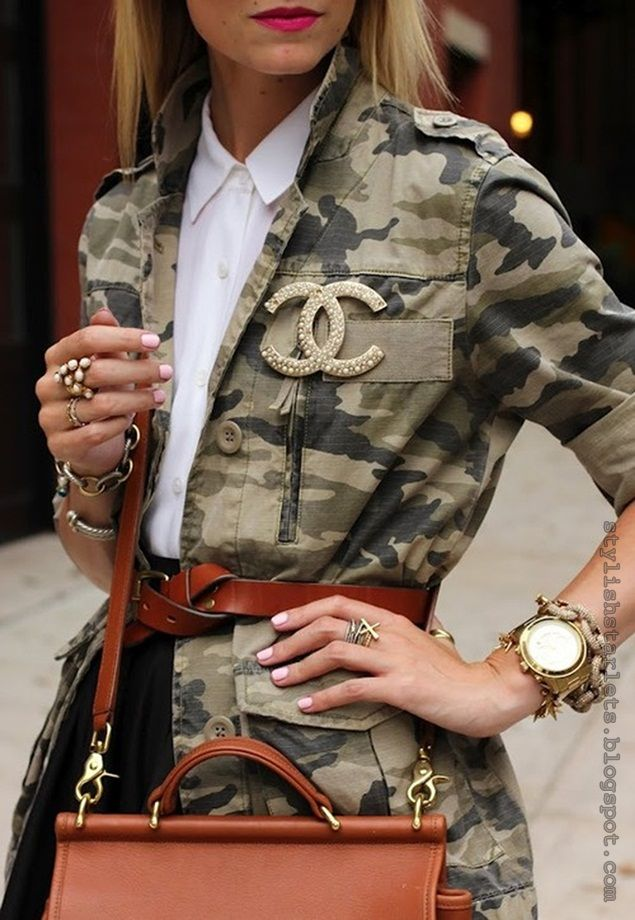kick it up a notch - Keeping in mind my style - I would bling it down with all the extra jewelry but the Chanel Logo would stay with either the watch or the cool bubbly ring.