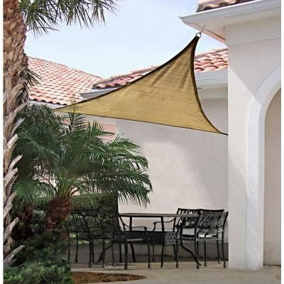 ShelterLogic 16 ft. x 16 ft. Sand Triangle Heavy Weight Sun Shade Sail-25721 at The Home Depot
