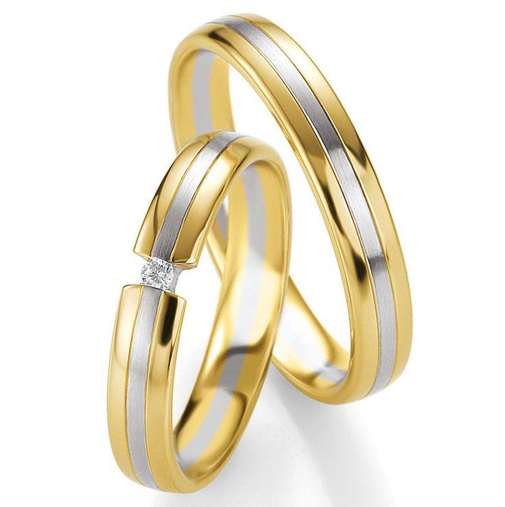 Trauringe Bicolor Breuning 48/05645 Ringe Ehering