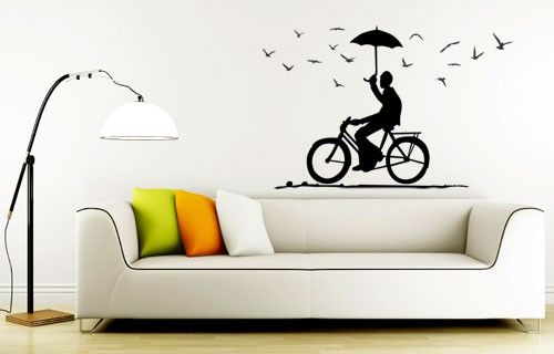 Bicycle Joy Ride vinyl wall sticker from Fantastick Wall Décor (South Africa)  #bicycle #southafrica