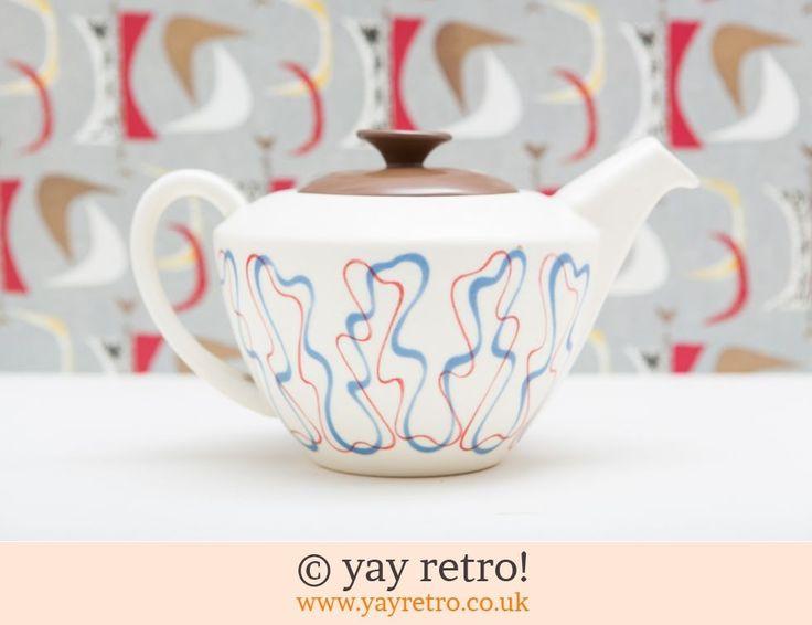 Poole Ariadne Large Teapot - Retro and Vintage China, Glassware and Kitchenalia - yay retro!