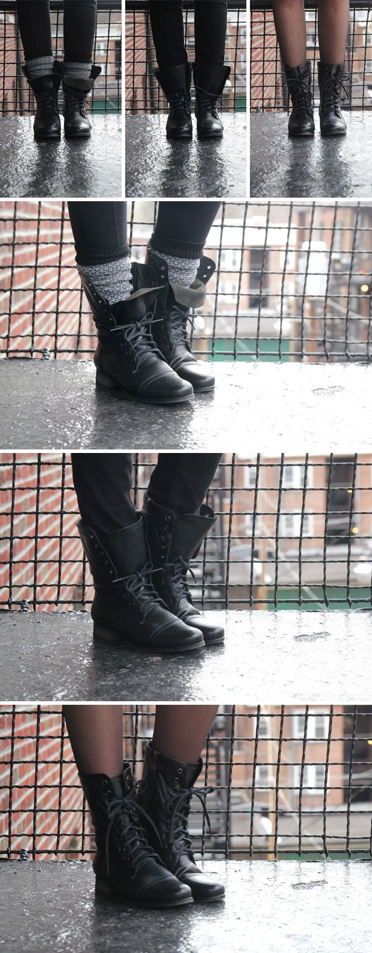 Steve Madden Troopa boots worn 3 ways