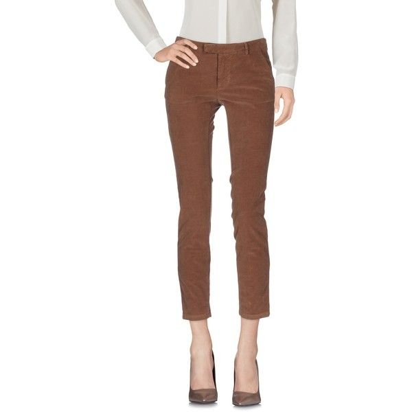 ..,merci Casual Pants ($64) ❤ liked on Polyvore featuring pants, light brown, brown velvet pants, brown chino pants, chinos pants, zip pants and chino pants