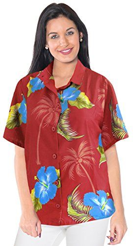 SUMMER DAY LUAU PARTY SHORT SLEEVES CRUISE SPORTS SHIRTS 1897 Red XL ALOHA THEME. Do YOU want blouse in other colors Like Red | Pink | Orange | Violet | Purple | Yellow | Green | Turquoise | Blue | Teal | Black | Grey | White | Maroon | Brown | Mustard | Navy ,Please click on BRAND NAME LA LEELA above TITLE OR Search for LA LEELA in Search Bar of Amazon To get COMFORTABLE FIT and Right SIZE FOR YOU, request you to view SIZE CHART See LA LEELA's SIZE IMAGE in Product Image on the left. SAVE…