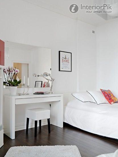 Malm desk in bedroom