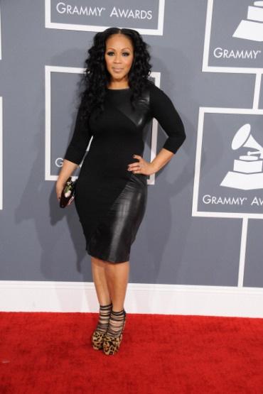 Erica Campbell @ Grammys 2013