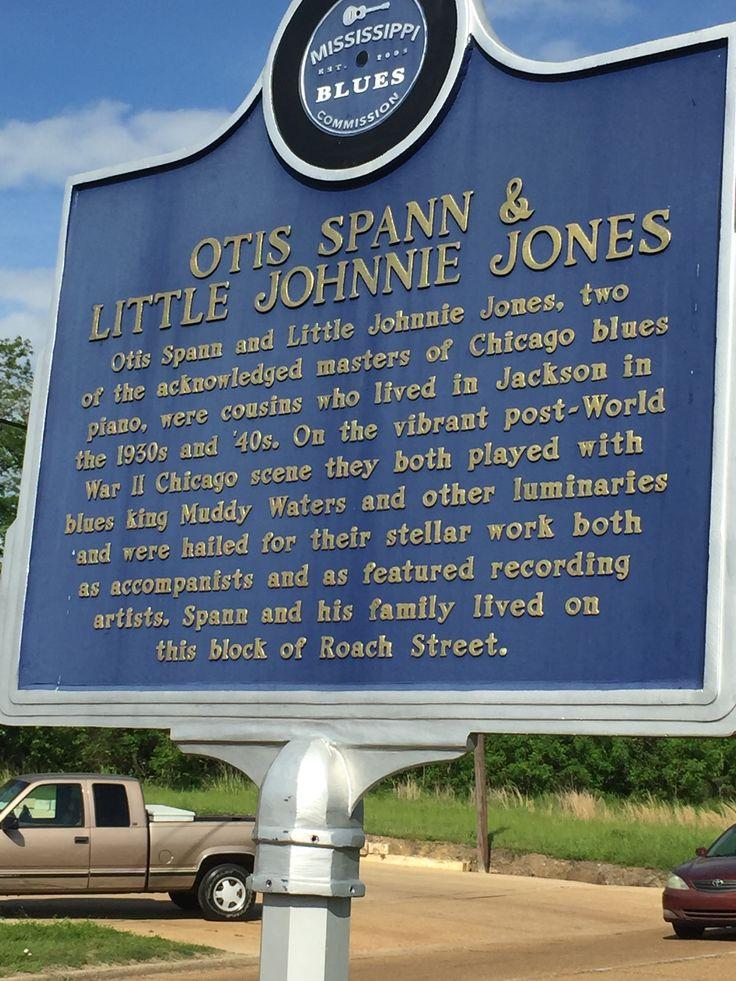 Otis Spann & Little Johnnie Jones - MS Blues Trail marker in Jackson, MS