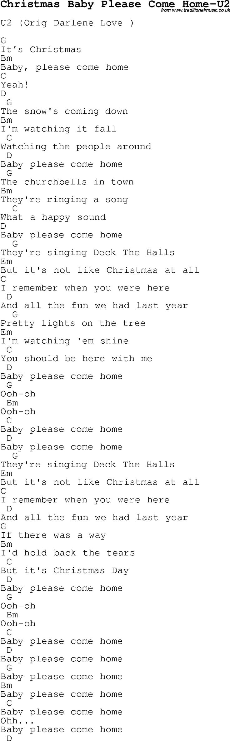 Best 25 come home lyrics ideas on pinterest photograph ed christmas songs and carols lyrics with chords for guitar banjo for christmas baby please come hexwebz Gallery