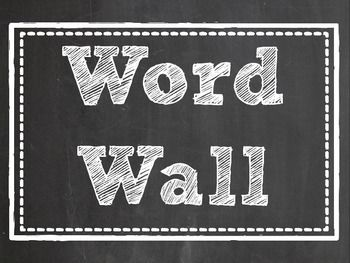 Dress up your word wall with these fun blackboard word wall labels! These labels are a full page size to ensure quality when printing. Print four or six to a page to make them the perfect size for your word wall.