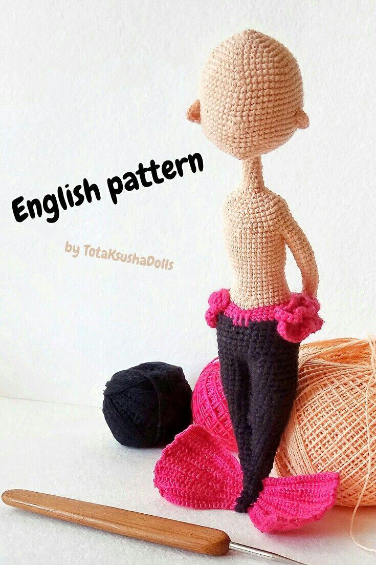 Crochet Mermaid pattern by TotaKsushaDolls