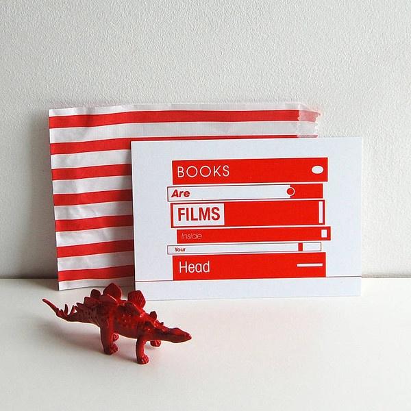 We Love Books Postcard — Polar