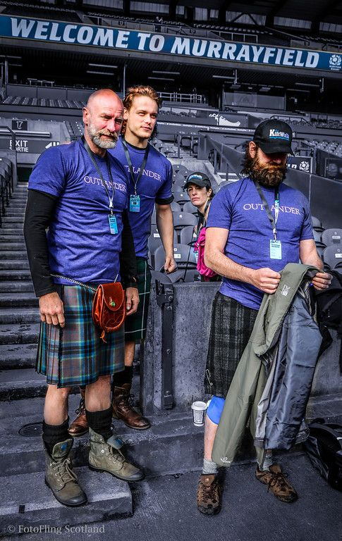 MURRAY FIELD - SCOTTISH RUGBY FIELD - Outlander Team at Edinburgh Kilt Walk 2014 | photo copyright of FotoFling Scotland
