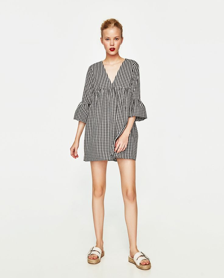 ZARA - WOMAN - CHECKED JUMPSUIT DRESS